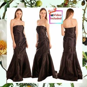 $895 NWT Badgley Mischka Formal Mermaid Gown 4 S